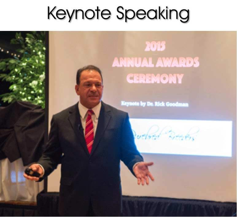 dr ricks motivational keynote speaking at the 2015 annual awards