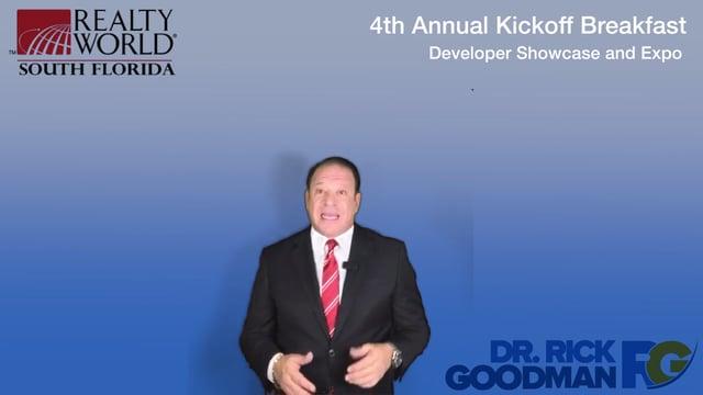 Dr Rick Goodman Keynote Speaker to Present at Realty World South Florida 4th Annual Kickoff Breakfast