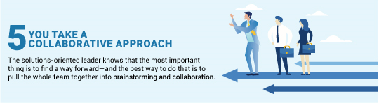 solution oriented leader collaborative approach